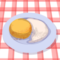 Polenta with cheese and sour cream
